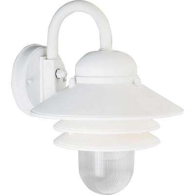 Newport Collection White Outdoor Wall Lantern