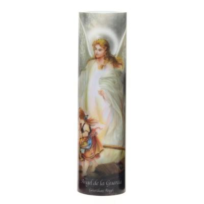 8 in. Guardian Angel LED Prayer Candle