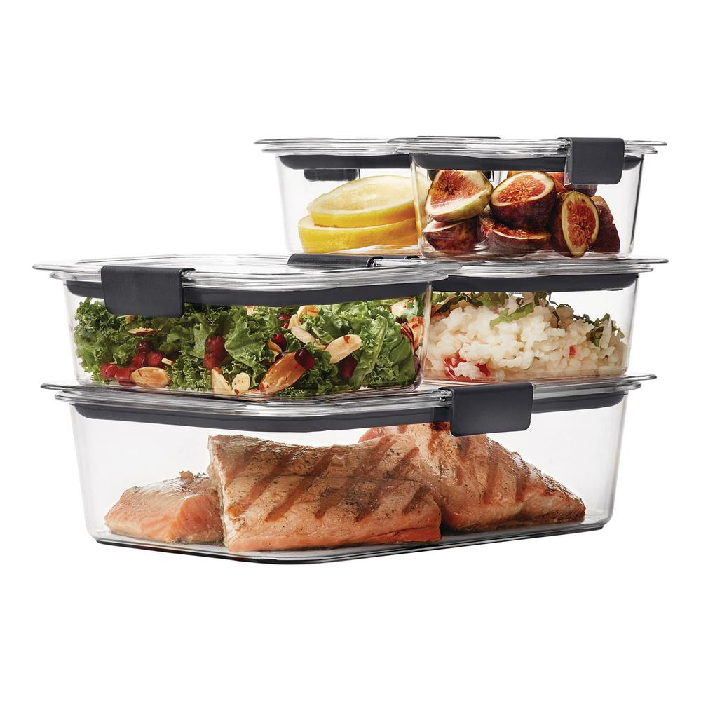 rubbermaid brilliance 10 piece food storage containers with lids 1976520 the home depot. Black Bedroom Furniture Sets. Home Design Ideas