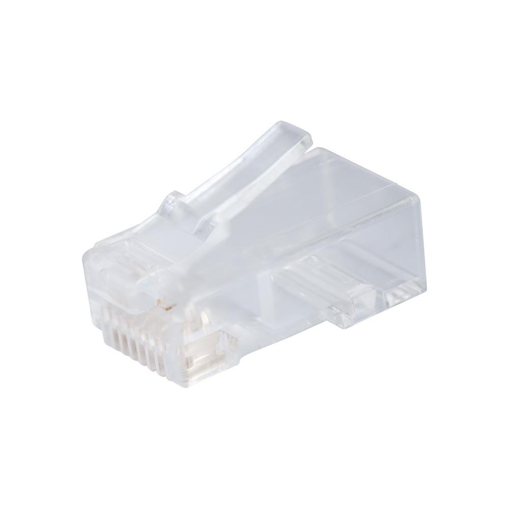 RJ-45 Cat 6 Modular Plug, 8-Position, 8-Contact (Case of 5)