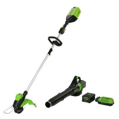 PRO 60-Volt Cordless Lithium-Ion String Trimmer/Blower Combo Kit (2-Tool) with Battery and Charger