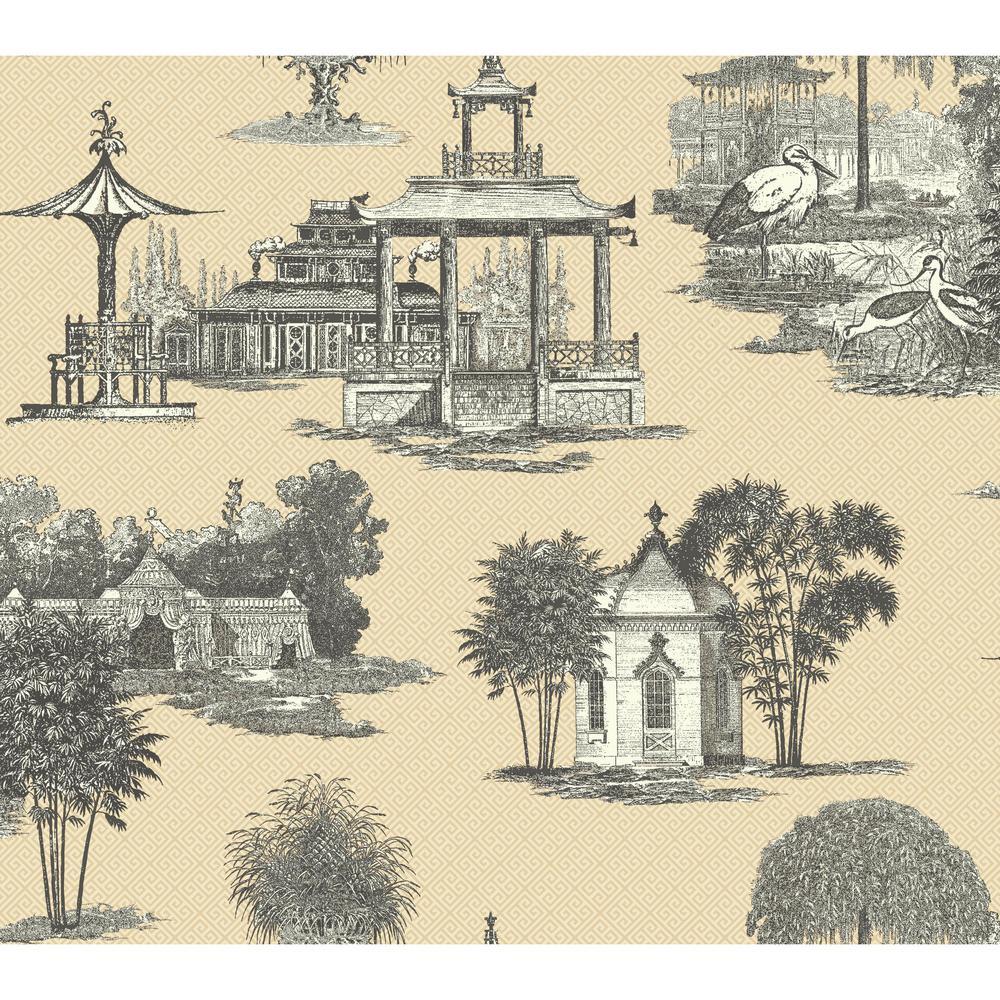 Ashford Toiles Mandarin Wallpaper