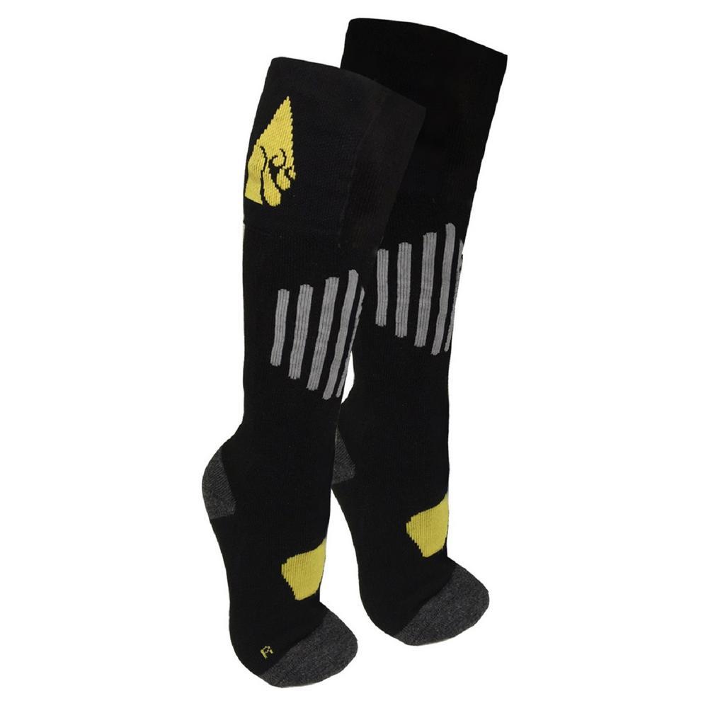 2X-Large Black Cotton 3.7-Volt Heated Sock