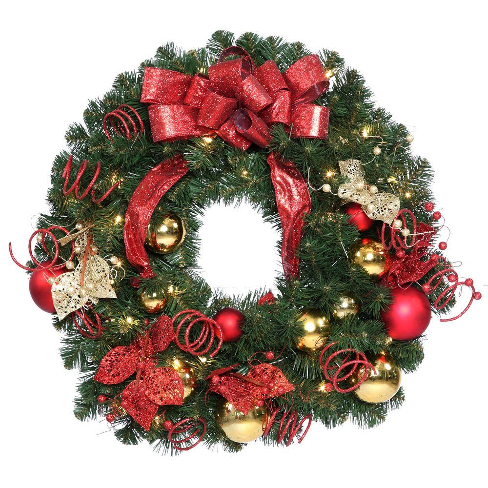 National tree company 30 in decorative collection Christmas wreath decorations