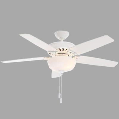 Concentra Gallery 54 in. Indoor Snow White Ceiling Fan with Light