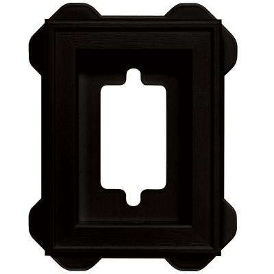 5 in. x 6.75 in. #002 Black Recessed Mini Universal Mounting Block