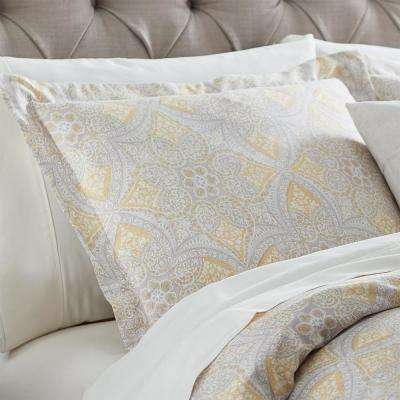 Alfresco Maize Cotton Euro (King) Pillow Sham