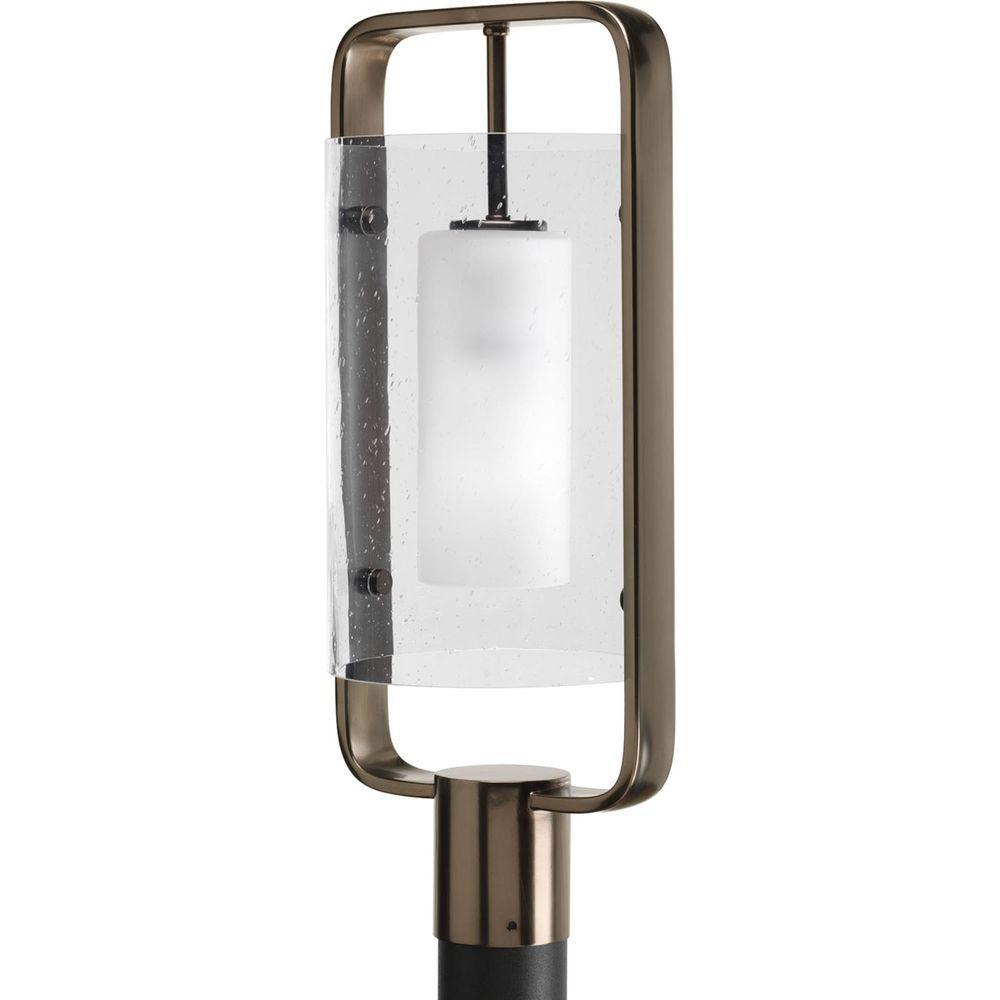 Progress Lighting Coupe Collection 1-Light Venetian Bronze Fluorescent Post Lantern
