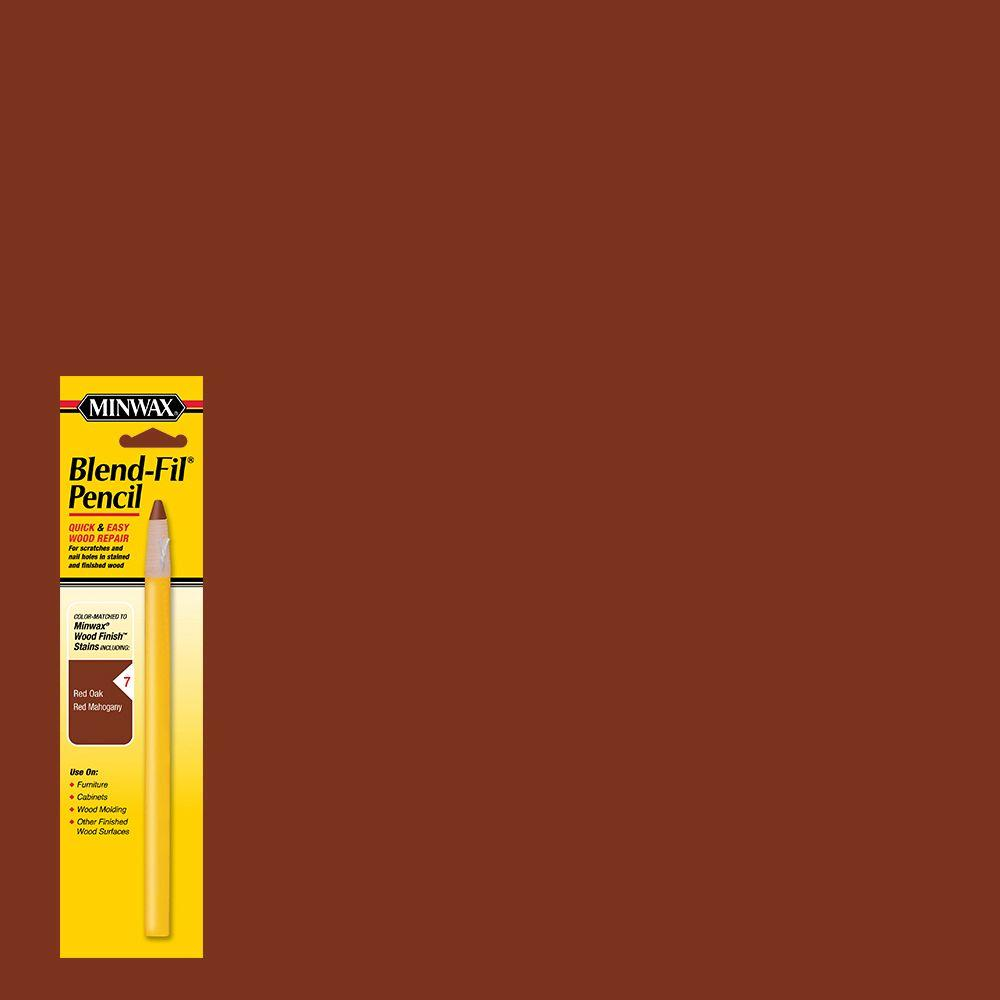 Minwax #7 Blend-Fil Pencil for Dark Reddish-Brown Stained Wood