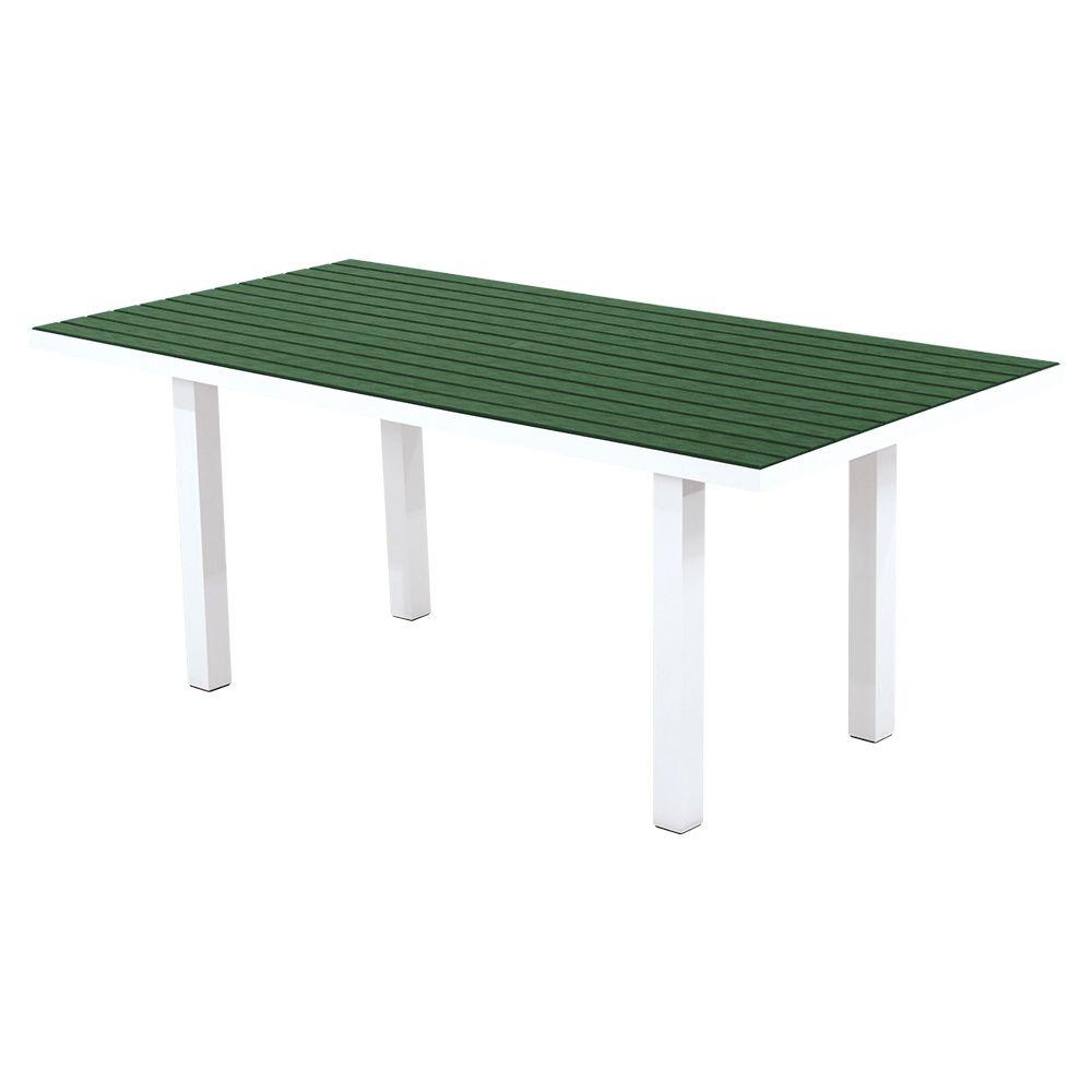 Satin White Green Patio Dining Table Euro Product Picture 2526