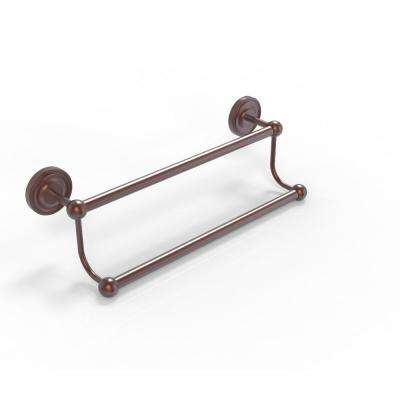 Prestige Regal Collection 30 in. Double Towel Bar in Antique Copper