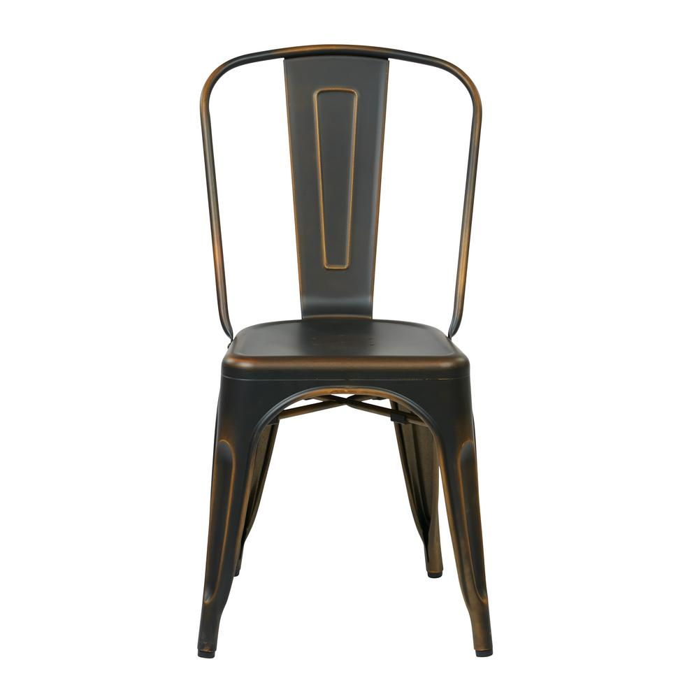 Beau OSP Designs Bristow Antique Copper Metal Side Chair (Set Of 4)