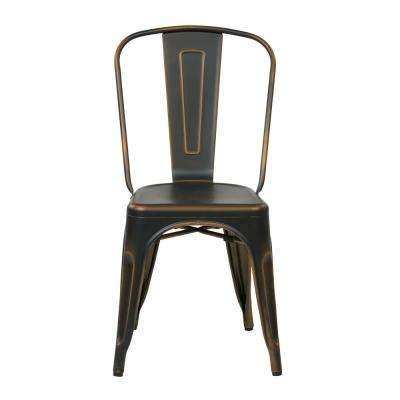 Bristow Antique Copper Metal Side Chair (Set of 4)