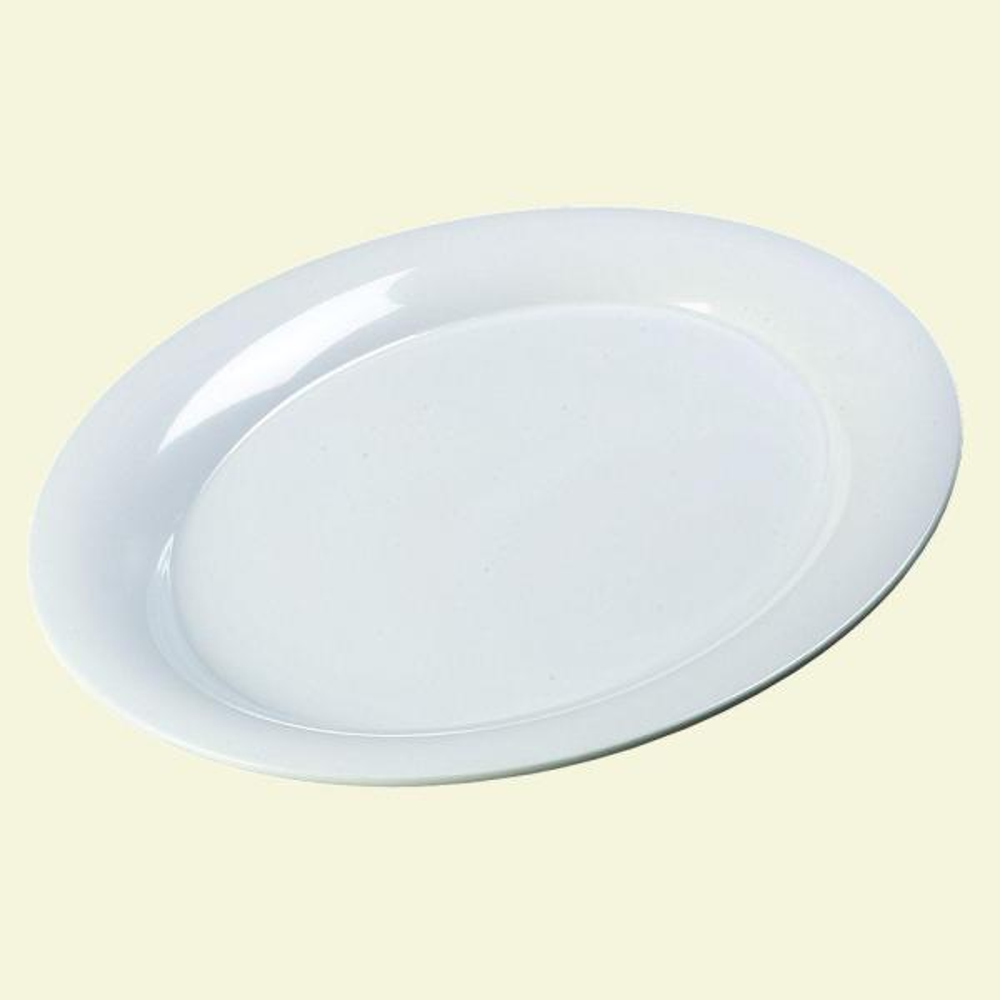 Carlisle 15 in. x 21 in. Melamine Designer Displayware Oval Platter