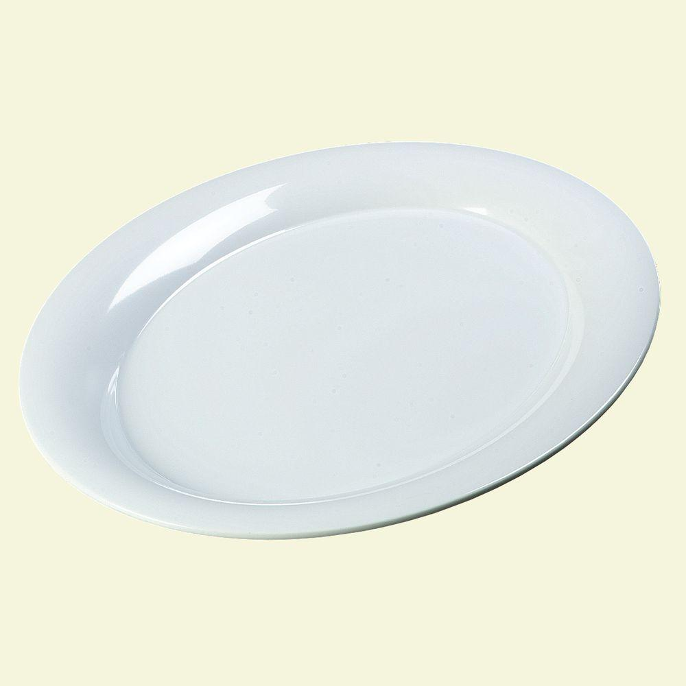 15 in. x 21 in. Melamine Designer Displayware Oval Platter in