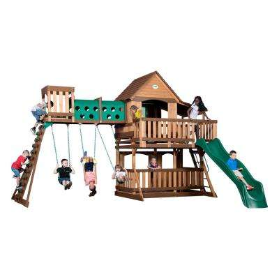 Woodridge Elite All Cedar Swing Set with Elevated Tunnel