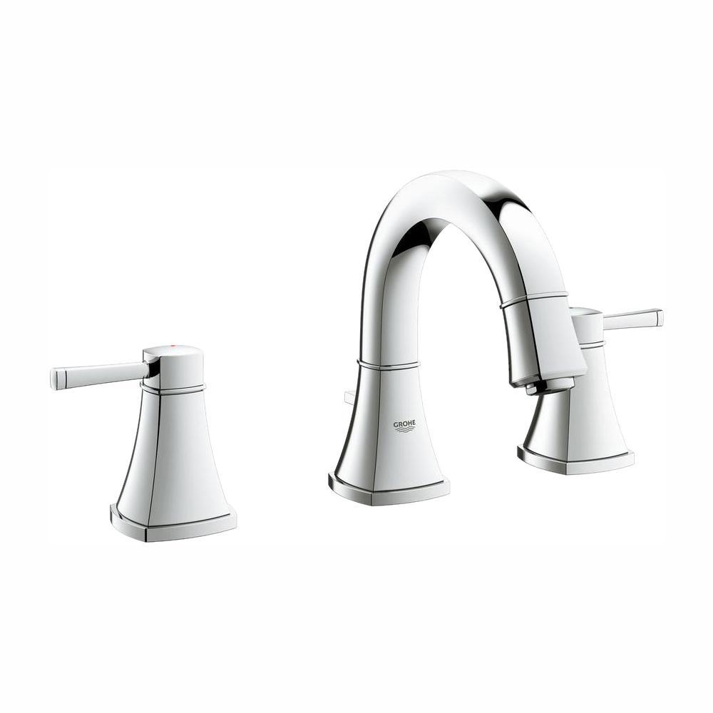 Grandera 8 in. Widespread 2-Handle 1.2 GPM Bathroom Faucet in StarLight Chrome