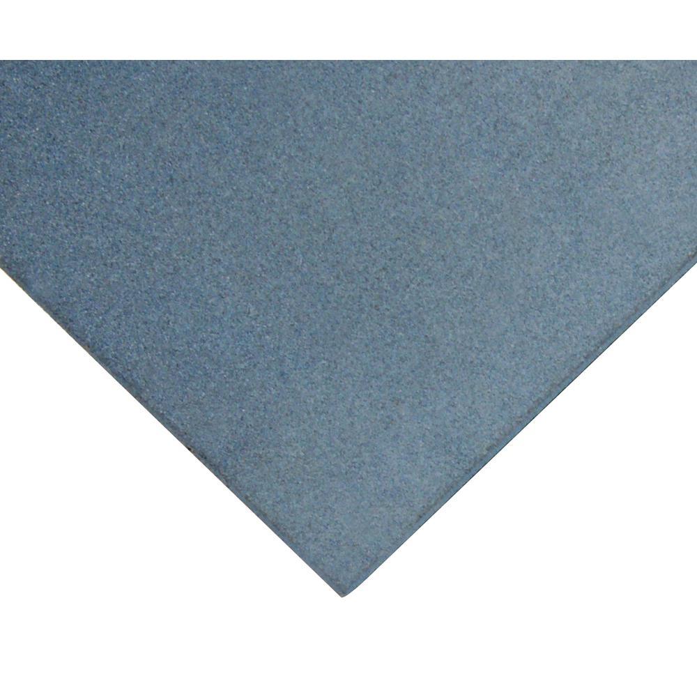 Eco-Sport 1 in. T x 1.66 ft. W x 1.66 ft. L Blue Interlocking Rubber Flooring Tiles (2.8 sq. ft.) (1-pack)