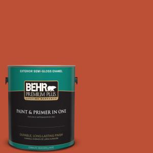 1-gal. #S-G-200 Glowing Firelight Semi-Gloss Enamel Exterior Paint