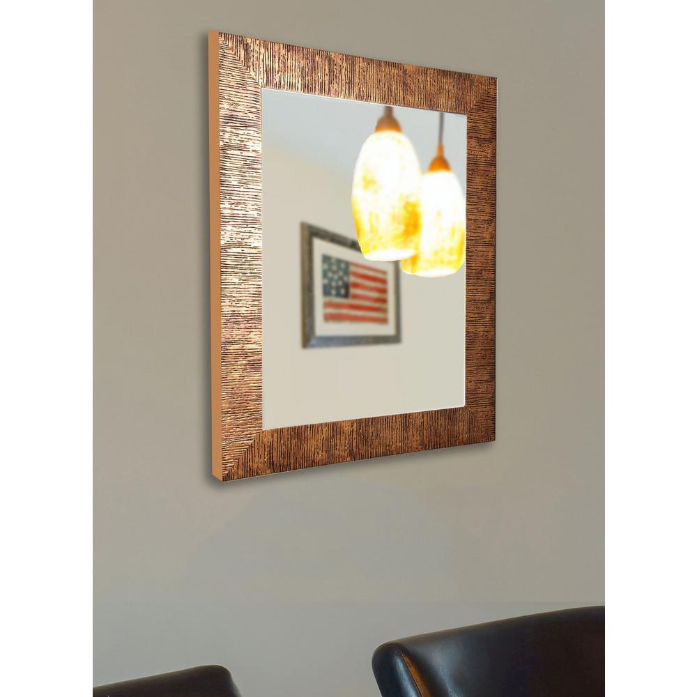 30.5 in. 36.5 Sunset Bronze Non Beveled Vanity Wall Mirror