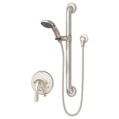 Origins Temptrol 1-Spray Hand Shower with Grab Bar in Satin Nickel (Valve Included)