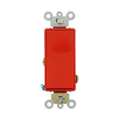 20 Amp Decora Plus Commercial Grade Single Pole Rocker Switch, Red