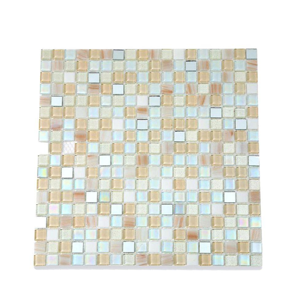 Splashback Tile Capriccio Collegno 12 in. x 12 in. x 8 mm Glass ...