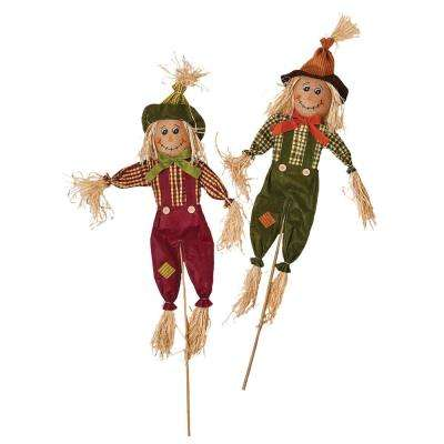 36 in. Scarecrow on Pole (Set of 2)