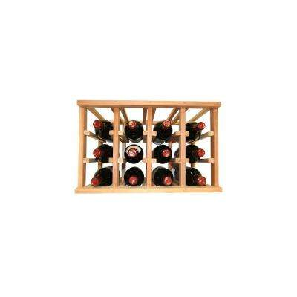Mini Stack Series- 12 Bottle Individual Wine Rack 11-15/16 in. H x 18-11/16 in. W