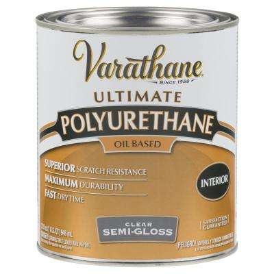 1 qt. Clear Semi-Gloss 275 VOC Oil-Based Interior Polyurethane (2-Pack)