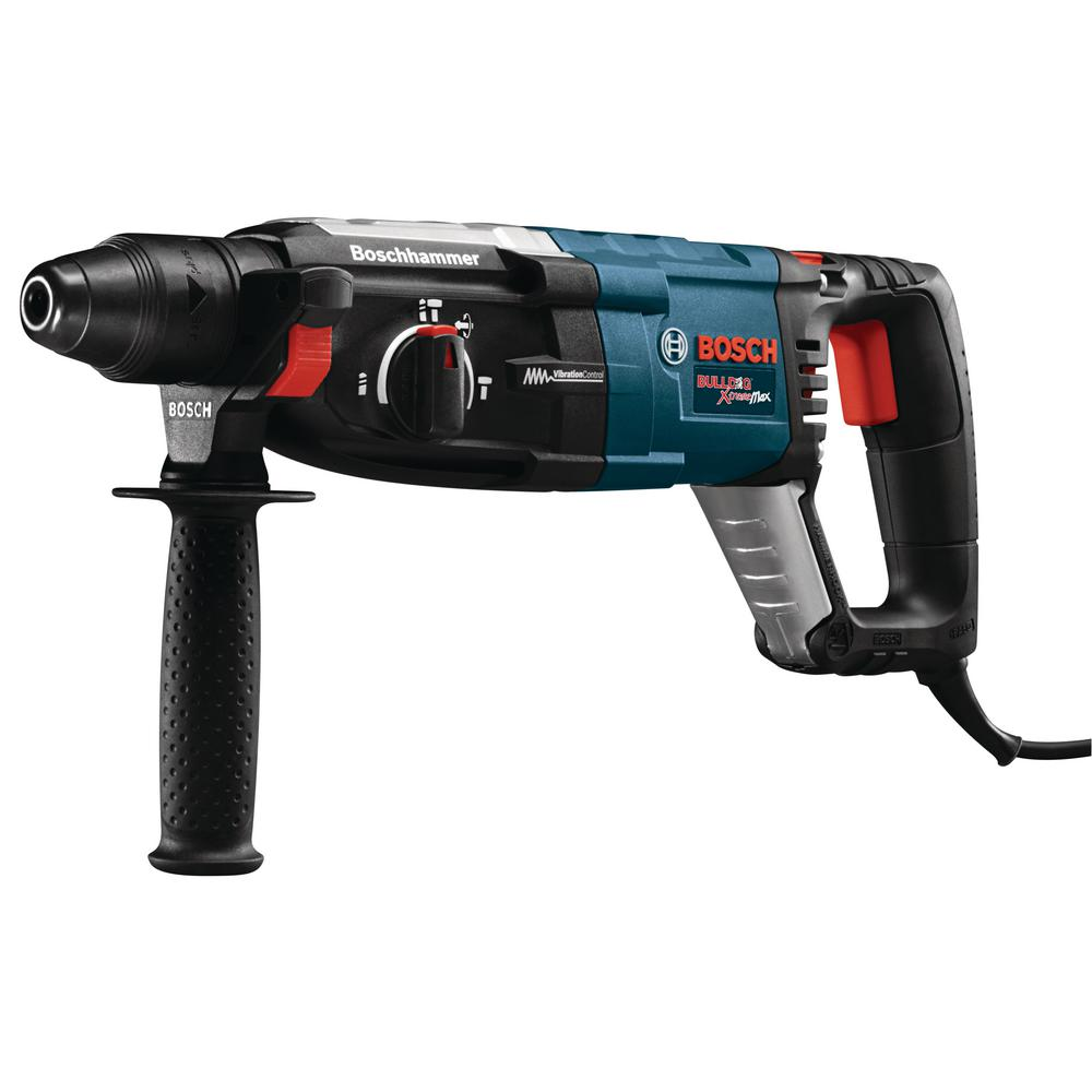 Bosch 8.5 Corded 1-1/8 in. SDS-Plus Variable Speed Rotary Hammer Drill with Auxiliary Handle and Carrying Case