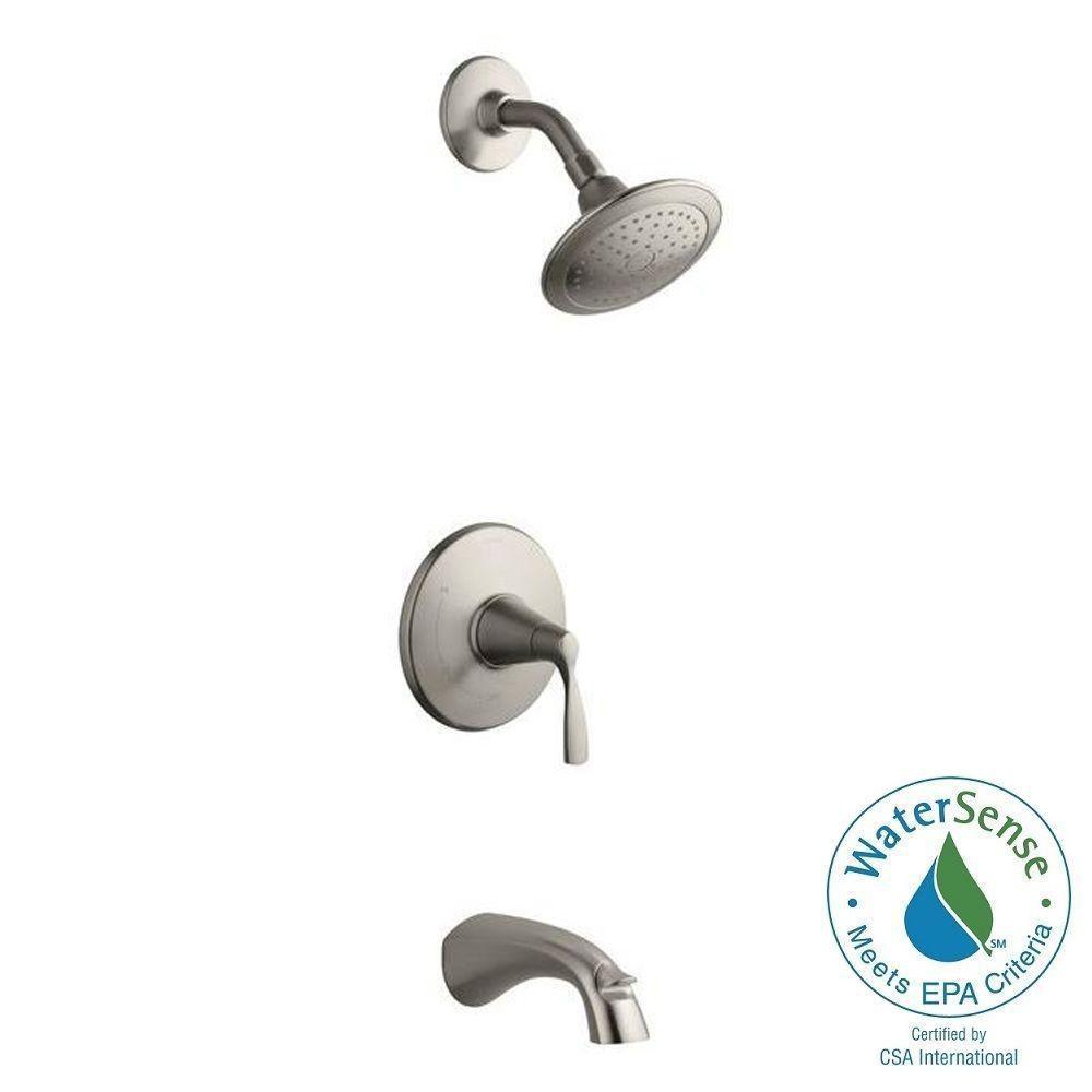 KOHLER Mistos Single-Handle 1-Spray Tub and Shower Faucet in Brushed Nickel
