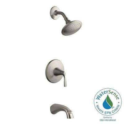 Mistos Single-Handle 1-Spray Tub and Shower Faucet in Brushed Nickel