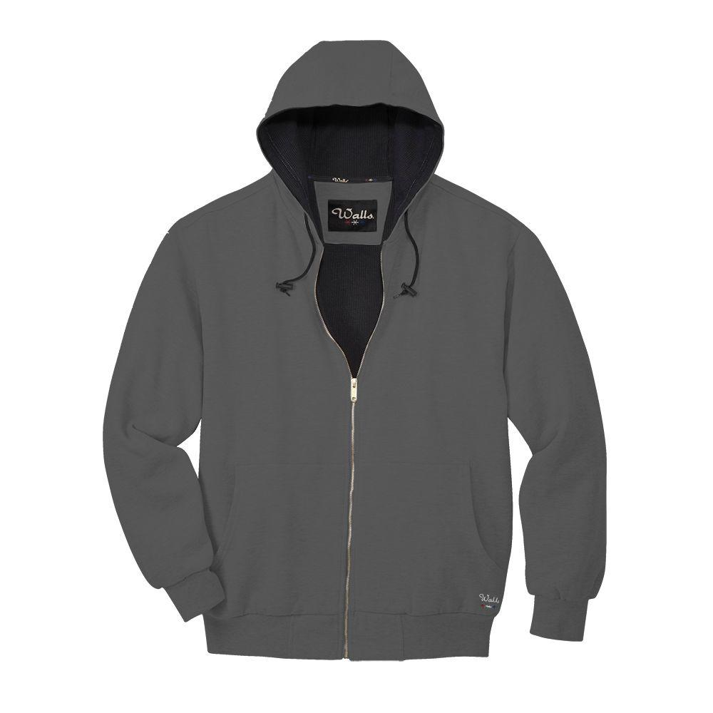 Walls Thermal Lined Fleece Large Regular Jacket in Charcoal Gray