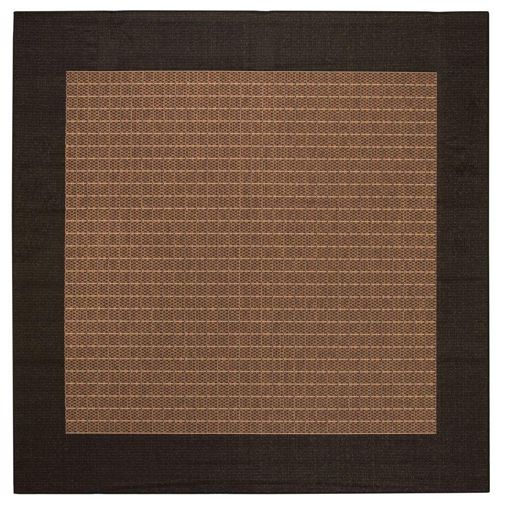 Checkered Field Cocoa 7 ft. 6 in. Square Area Rug