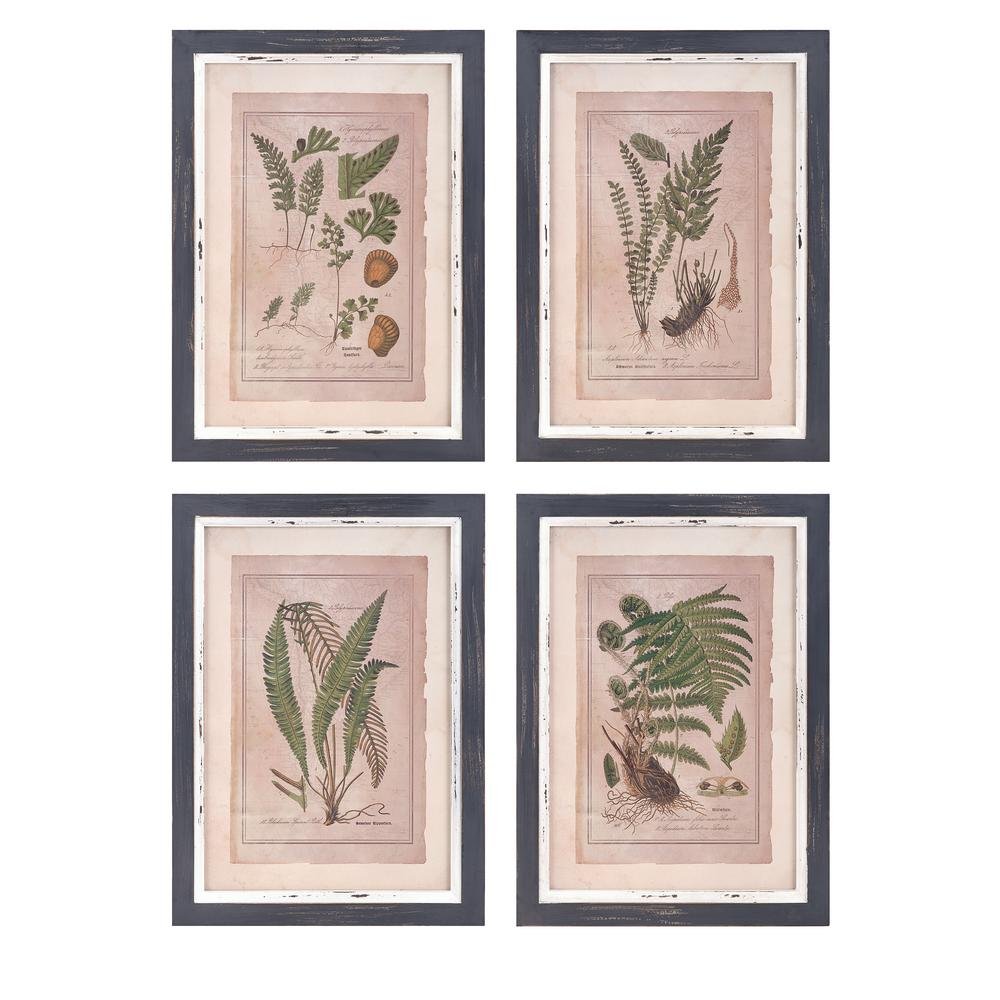 Framed botanical print wall art set of 4 a0497321 the home depot