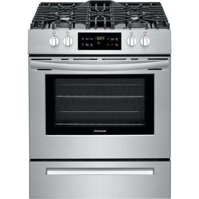 30 in. 5 cu. ft. Front Control Gas Range in Stainless Steel