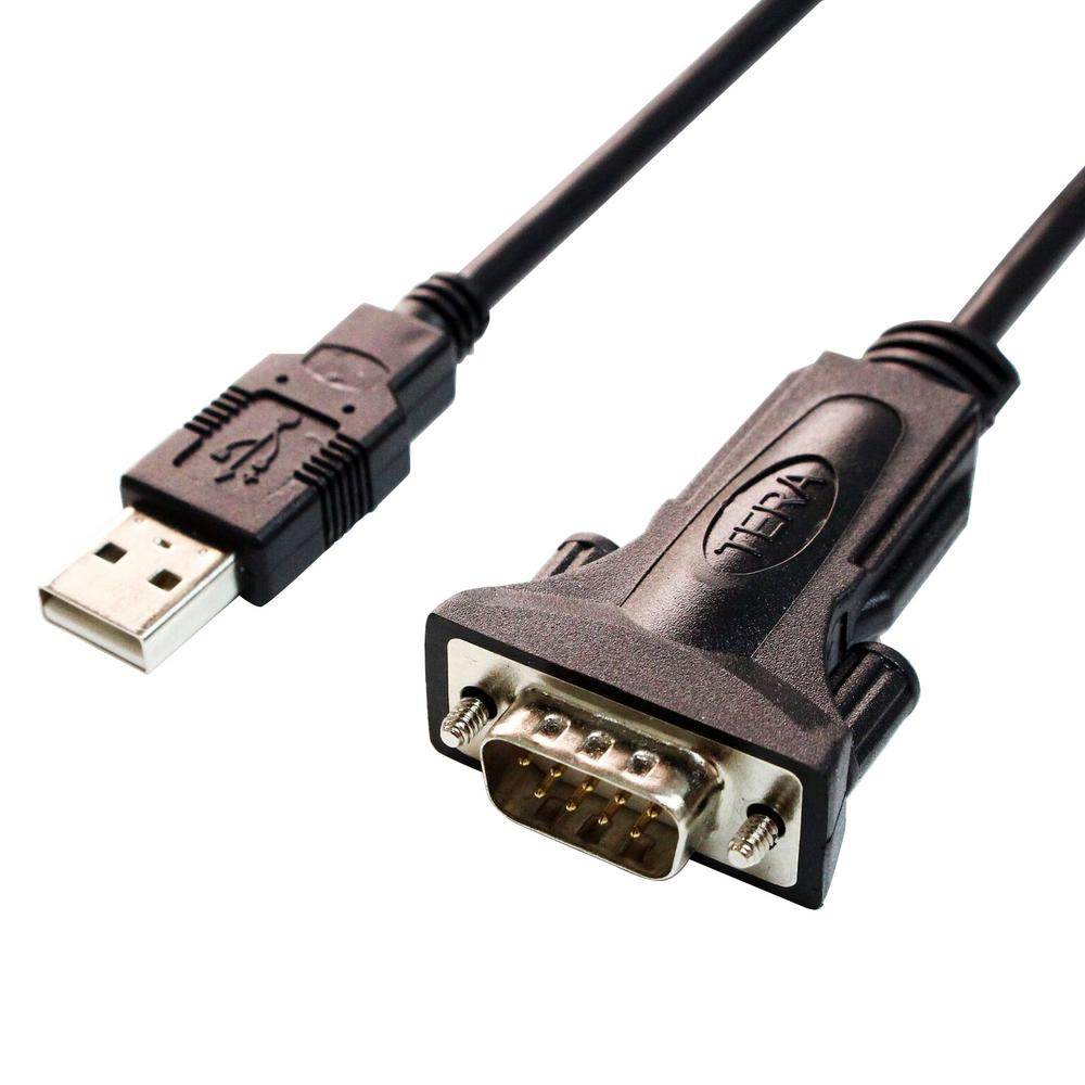 Tera Grand USB 2.0 to RS232 Serial DB9 6 ft. Adapter Cable with ...
