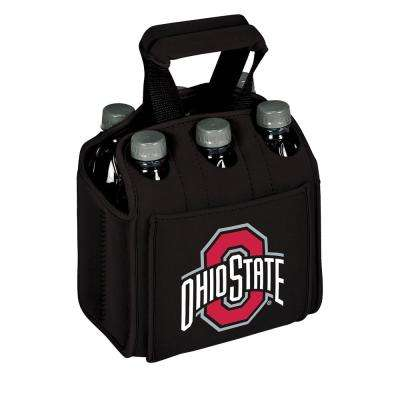 Ohia State University Buckeyes 6-Bottles Black Beverage Carrier