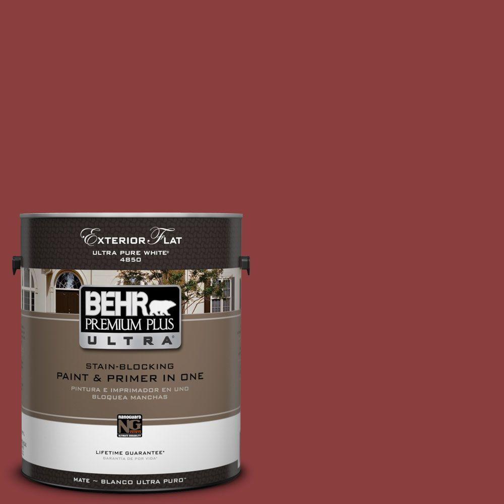 BEHR Premium Plus Ultra 1-Gal. #UL110-3 Allure Flat Exterior Paint-DISCONTINUED