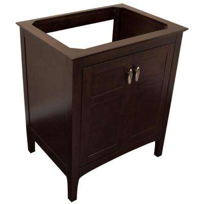 Monrovia 29 in. W x 21.3 in. D Single Bath Vanity Cabinet Only in Sable Walnut without Vanity Top