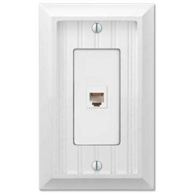 Cottage 1-Gang Phone Wall Plate - White