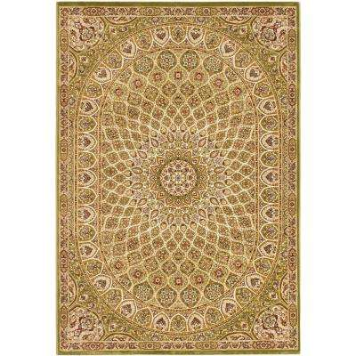 Persia Isfahan Light Green 4 ft. x 5 ft. Area Rug