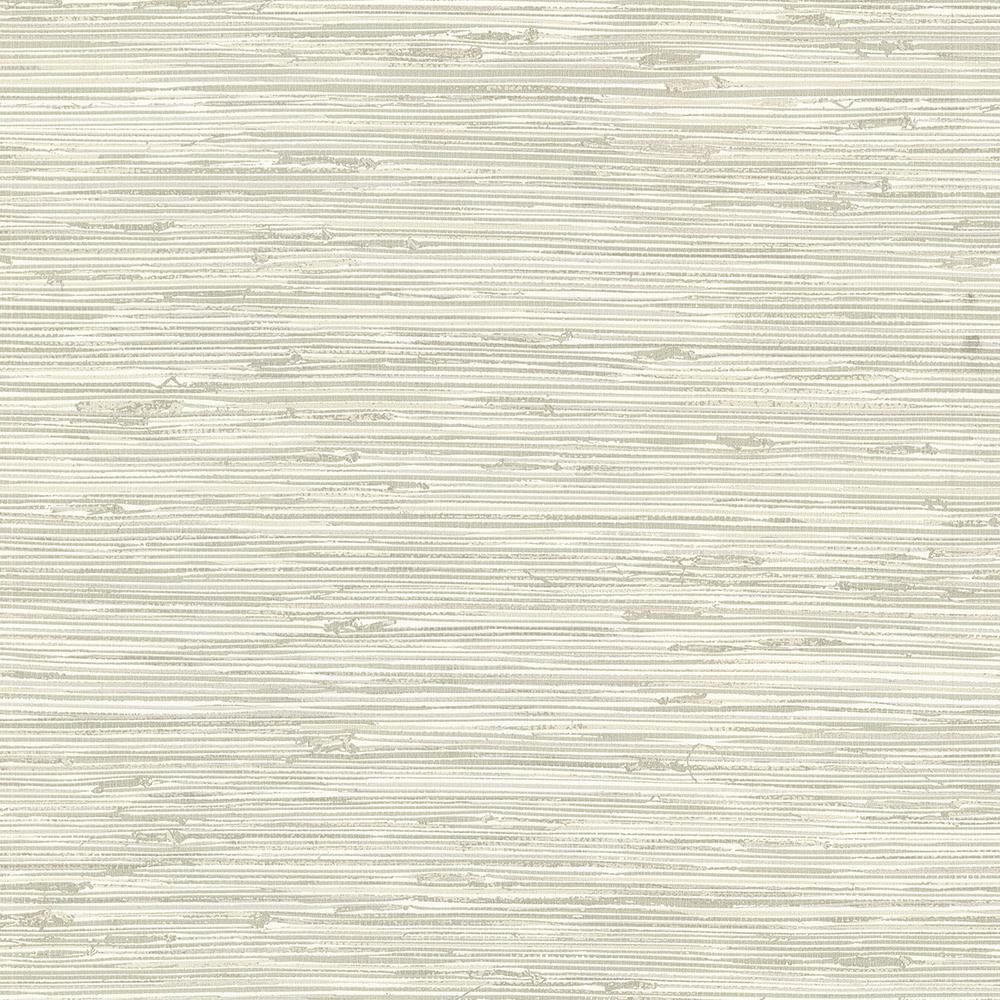 Brewster 56.4 sq. ft. Fiber Off-White Weave Texture Wallpaper 2767-24418