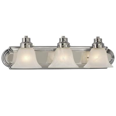 Negron 3-Light Polished Chrome Incandescent Bath Vanity Light