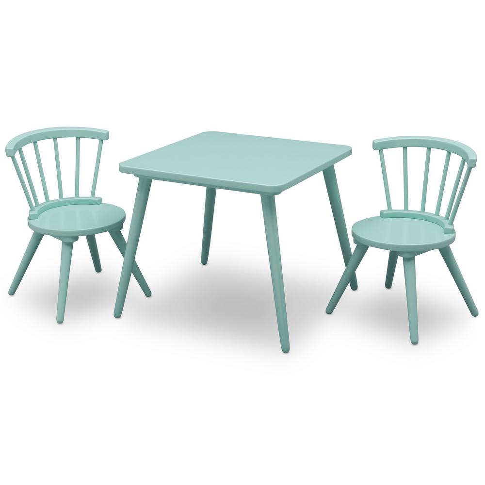 Delta Children Aqua Windsor Table and 2-Chair Set Set-531300-347 - The