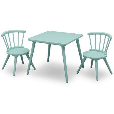 Aqua Windsor Table and 2-Chair Set