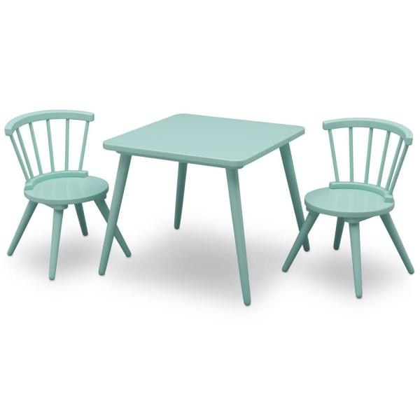 Delta Children Aqua Windsor Table And 2 Chair Set