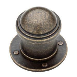 Liberty 1-1/2 inch Burnished Antique Brass Industrial Cabinet Knob by Liberty