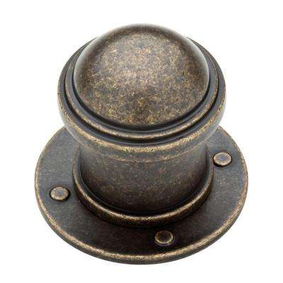 Industrial 1-1/2 in. (38mm) Warm Chestnut Round Cabinet Knob